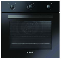 Candy FCP403N, 65 Litre. Minute Minder, Single Fan Oven, Black