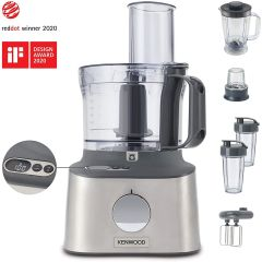 Kenwood FDM312SS, 800W, 2.1L, Integrated Weighting Scales, Multipro Compact Food Processor, Stainless Steel