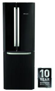 Hotpoint, FFU3DK, 70cm, Frost Free, American Fridge Freezer, Black