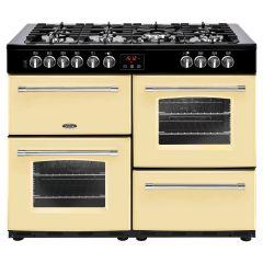 Belling FH110DFTCR, 110cm Cook centre, Dual Fuel, Range Cooker, Natural Gas, Cream