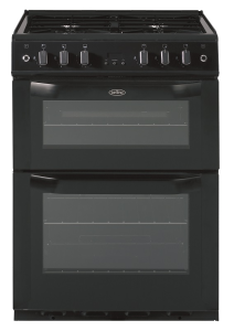 Belling FSG60TCBLKNG, Twin Cavity, Natural Gas, 60cm, Cooker, Black