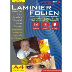 Genie DINA4, Laminator, A4 Pouches, 100 Pack