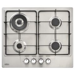 Belling BGH602CSTALPG, 60cm LPG, 4 Burner inc. Wok Ring, Gas Hob