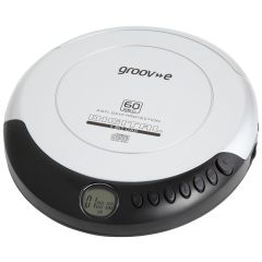 Groov-e GVPS110SI, Retro Series, Personal CD Player, Silver