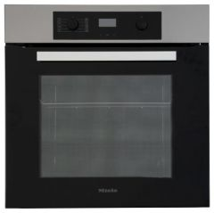 Miele H22651B, 60cm Multifunction, Electric Single Oven, Clean Steel