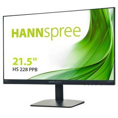 "Hannspree HS228PPB, 21.5"", 60Hz VA Monitor with Audio, Black"