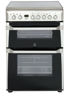 Indesit ID60C2X, 60CM, Twin Cavity, Electric Oven, Stainless Steel