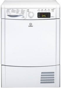Indesit, IDCE8450BH, 8KG, Condensor Dryer, White