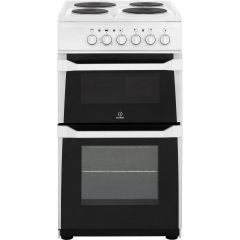 Indesit, IT50EWS, 50cm, Twin, Cavity, Cooker, White