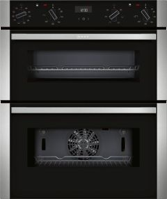 Neff J1ACE4HN0B, Built in, Double Oven, Black W/Steel