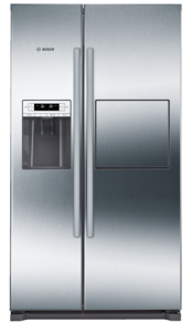 Bosch KAG90AI20G, 1770 x 910 mm, Ice and Water, Stainless Steel, American Fridge Freezer
