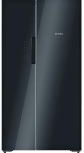 Bosch KAN92LB35G, American Style Fridge Freezer, Black
