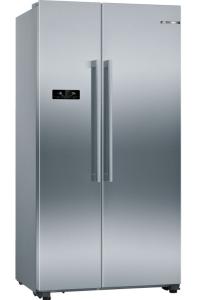 Bosch KAN93VIFPG, Serie 4, American Style Fridge Freezer, Stainless Steel