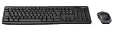 Logitech MK270, Wireless USB Keyboard with Optical Mouse, Black