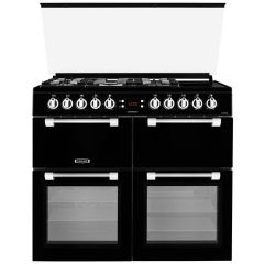 Chefmaster CC100F521K, 100CM, Dual Fuel Range Cooker with Lid, Black