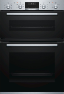 Bosch MBA5350S0B, Series 6 Built-in Double Oven, Black W/Steel