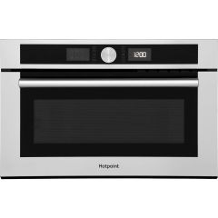 Hotpoint MD454IXH, 1000W, Built In Microwave, Stainless Steel