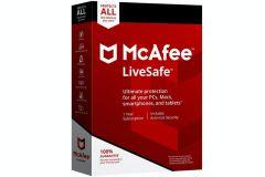 McAfee MLS00UHVURAA, LiveSafe Internet Security Software
