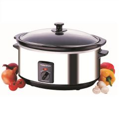 Morphy Richards 48715, 330W, 6.5L, 6.34kg, Slow Cooker, Stainless Steel