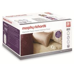Morphy Richards 620013, King Size, Dual Fleece. Mattress Cover, Electric Blanket