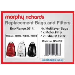 Morphy Richards MR02BB, Vacuum Bags For 70088
