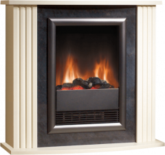 Dimplex MZT20, LED Fireplace with Log Effect, Black