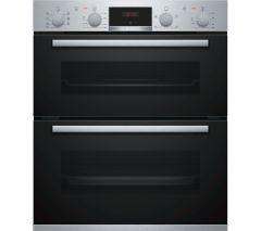 Bosch NBS533BS0B, Serie 4, Built-under Double Oven, Stainless Steel