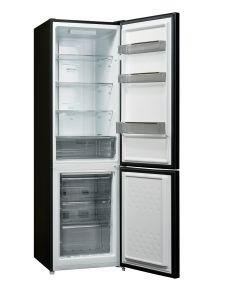 Powerpoint P65555FFM2GLB, 180x54, Frost Free, Fridge Freezer, Black Glass