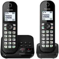 Panasonic KXTGC462EB, Twin Digital Cordless Phone w/Dock