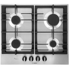 Bosch PCP6A5B90, Serie 6, Gas Hob, Brushed Steel