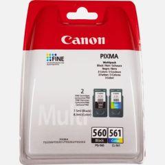 Canon PG-560 Black & CL-561 Colour Ink Cartridge Multi Pack