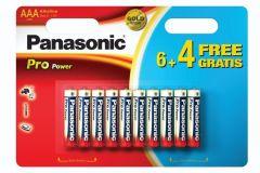 Panasonic PANAAAXT64, AAA Batteries 6 + 4 Free - 10 Pack