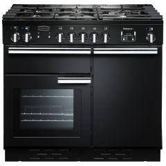 Rangemaster Professional, PROP100DFFGB/C, 100cm, Dual Fuel, Range Cooker, Black