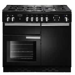 Rangemaster PROP100NGFGBC, Professional+ 100, Range Cooker, Black