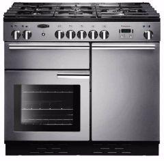 Rangemaster PROP100NGFSSC, Professional+ 100, Natural Gas, Range Cooker, Stainless Steel