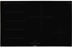 Bosch PXE875BB1E, Serie 4, Induction Hob, Black