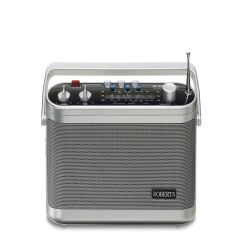 Roberts R9954, Classic 3 Band Portable Radio, Silver