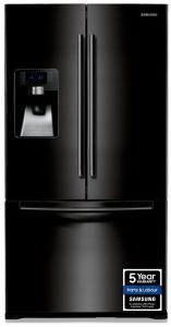 Samsung RFG23UEBP1, French Door Design, Plumbed, American Fridge Freezer, Black