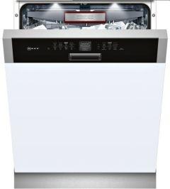 Neff S416T80S0G Semi Integrated Dishwasher, White