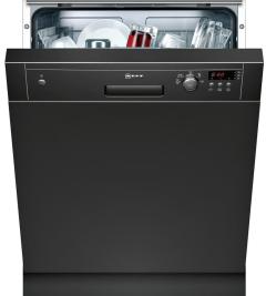 Neff S41E50S1GB, Full-Sized Semi Integrated Dishwasher, Black