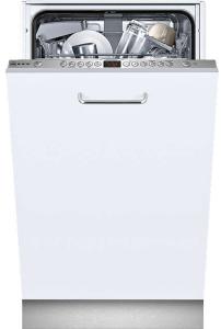 Neff S583C50X0G Integrated Slimline Dishwasher, White