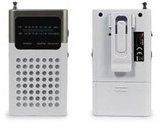 Soundz 842658, AM/FM Pocket Radio, White