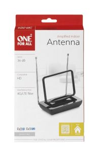 One For All SV9125, Amplified, Black, Indoor Aerial