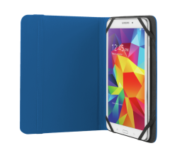 """Trust T20313, Primo, Folio Case with Stand for 7-8"""" Tablets, Blue"""