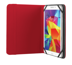 "Trust T20314, Primo Folio Case with Stand for 7-8"" Tablets, Red"