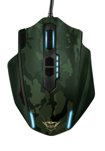 Trust T20853, GXT Gaming Mouse, Camouflage Green