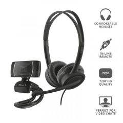 Trust T24036, 2-in-1 Headset & Microphone, Home Office Bundle