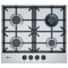 Neff T26DS59N0, 60cm, FlameSelect Gas Hob, Stainless Steel