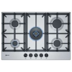 Neff T27DS59N0, 75cm, Gas Hob, Stainless Steel