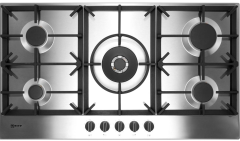 Neff T29DS69N0, 90cm, FiveBurner Gas Hob, Stainless Steel
